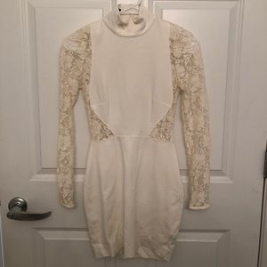 Nasty Gal Off-White Body Con dress